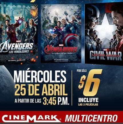 Photo of Hoy Cinemark te invita al 'Maratón del Infinito'