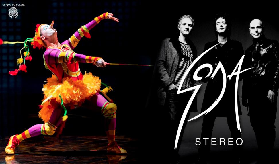 Photo of #SODACIRQUE  Cirque du Soleil – Soda Stereo – PopArt Music –Sony Music  Una producción única para Latinoamérica