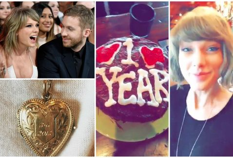 Photo of Taylor Swift y Calvin Harris celebran su aniversario N.1