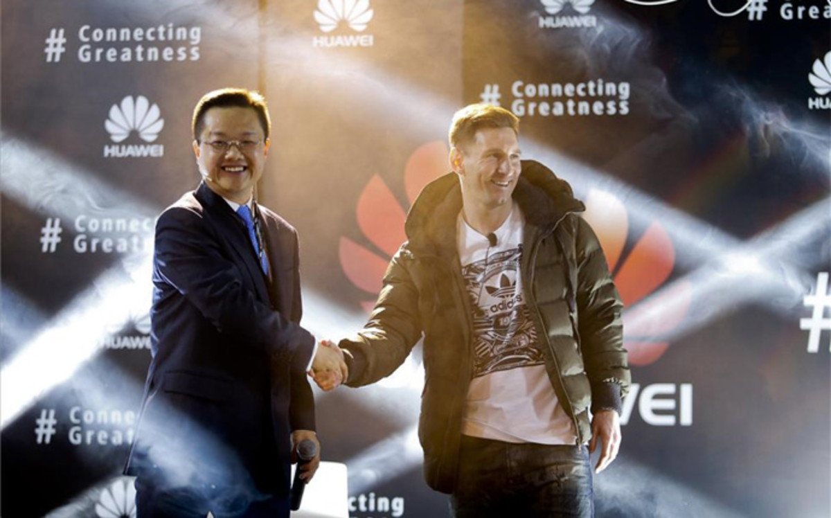 Photo of Lionel Messi firma como embajador de Huawei