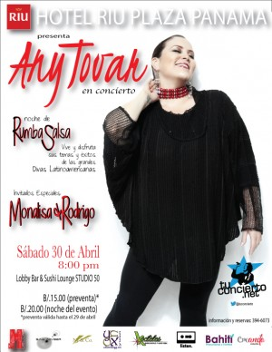 Photo of Any Tovar en concierto