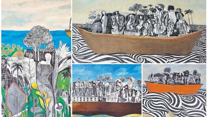 Photo of El pintor Fernando Toledo cruza el Canal de Panamá