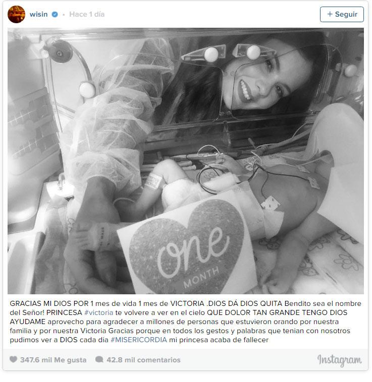 Photo of Fallece la hija recién nacida del cantante Wisin