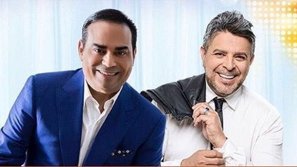 Photo of Gilberto Santa Rosa y Luis Enrique en Panamá