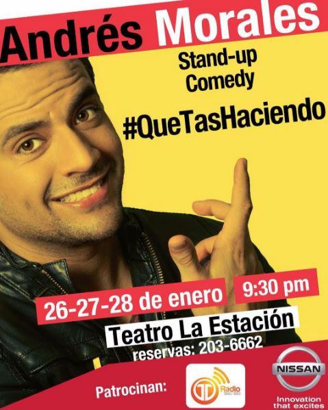 Photo of Stand-up comedy #QueTasHaciendo de Andrés Morales