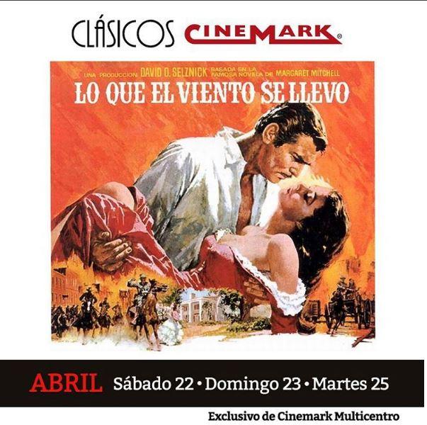 Photo of Llego el clásico 'Lo que el viento se llevo' a Cinemark