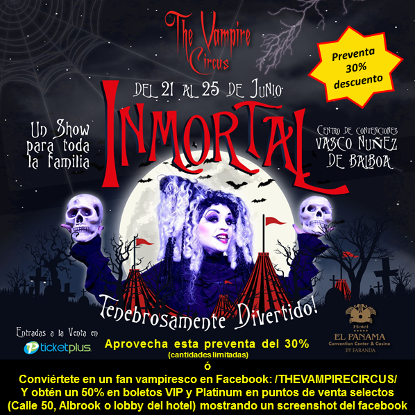 Photo of Regresa a Panamá The Vampire Circus.