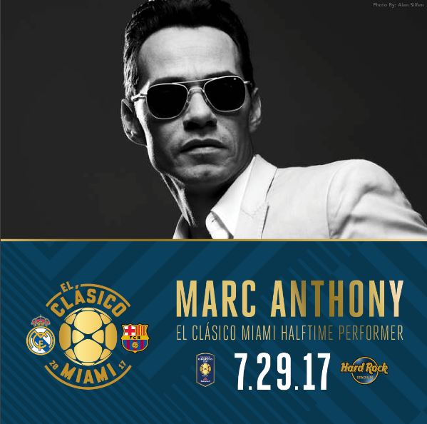 Photo of Marc Anthony cantará durante el descanso del clásico Real Madrid y Barcelona