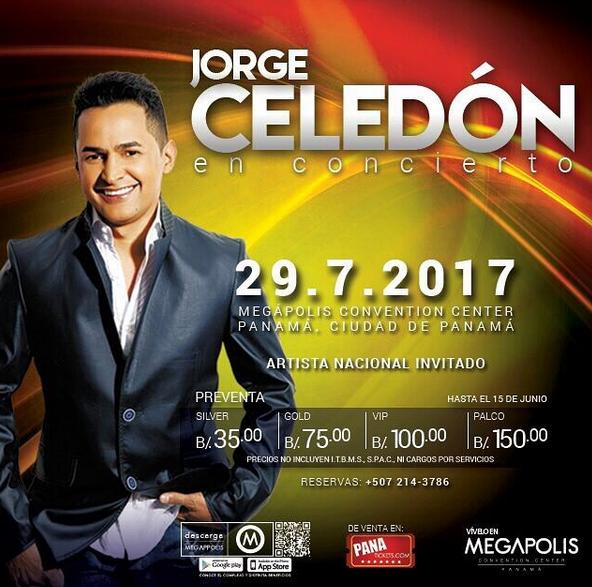 Photo of Jorge Celedón en concierto en Panamá
