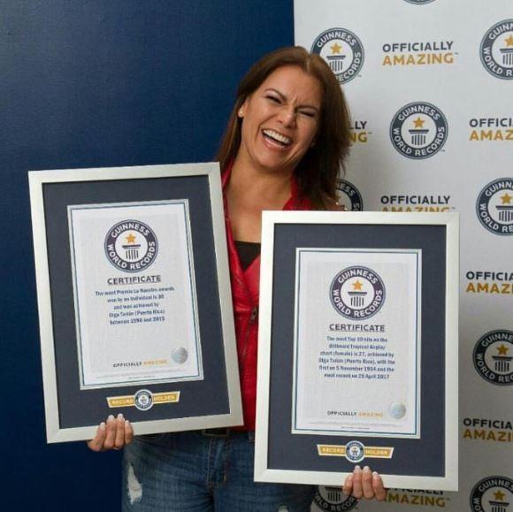 Photo of Olga Tañón premiada por Guinness World Records