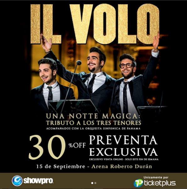 Photo of Pre-venta para concierto de IL Volo en Panamá