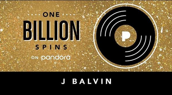 Photo of J Balvin Nº 1 en Pandora