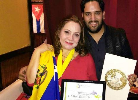 Photo of Elba Escobar fue honrada en la ciudad de Orlando, Florida
