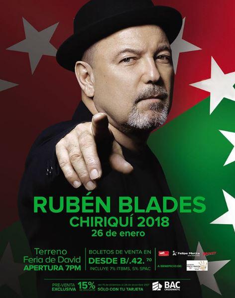 Photo of Pre venta exclusiva para concierto de Rubén Blades