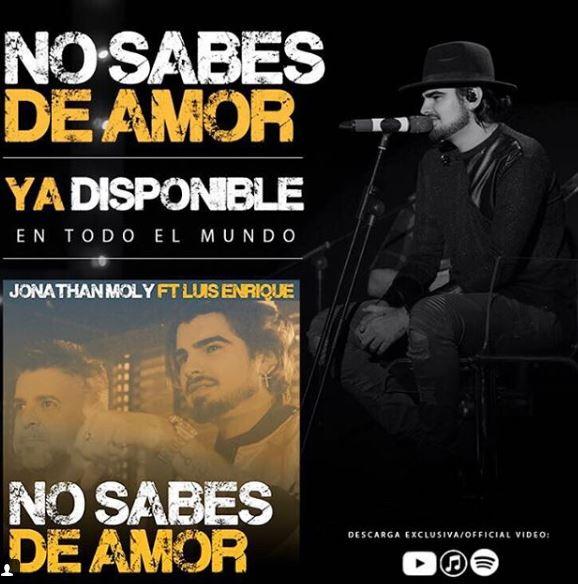"Photo of Jonathan Moly presentó ""No sabes de amor"""