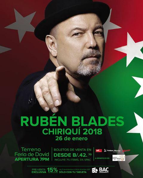 Photo of Concierto de Rúben Blades en Chiriquí 2018