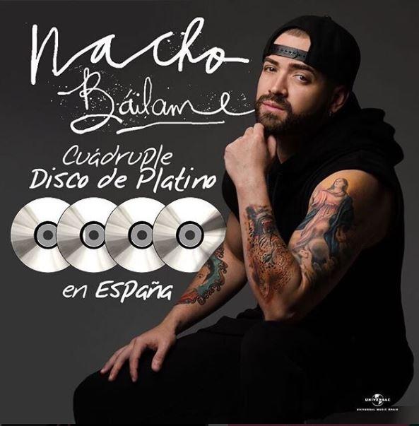 Photo of Nacho recibe cuádruple disco de platino en España