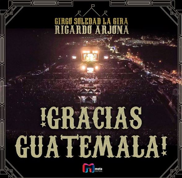 Photo of Ricardo Arjona dio dos noches inolvidable en Guatemala