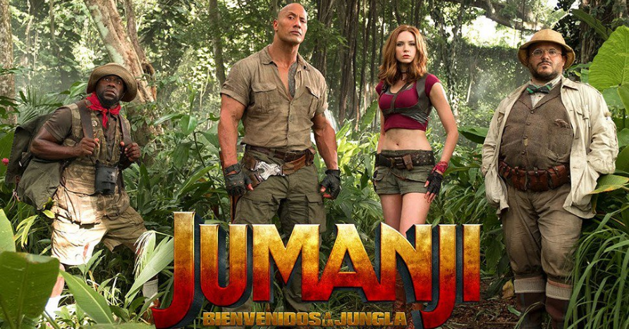 Photo of Jumanji se mantiene en la cima de la taquilla norteamericana