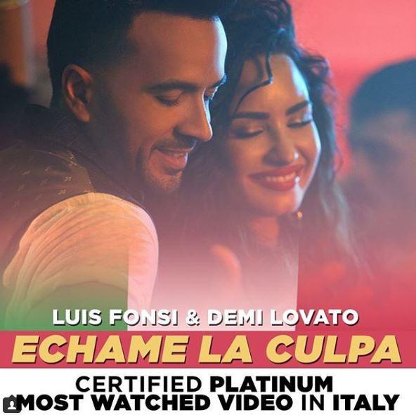 Photo of 'Échame La Culpa' de Luis Fonsi y Demi Lovato sigue cosechando éxitos