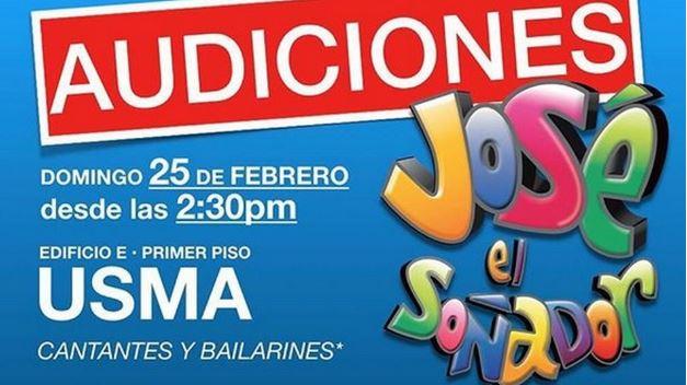 Photo of Atención¡ Audiciones para el musical «José El Soñador»