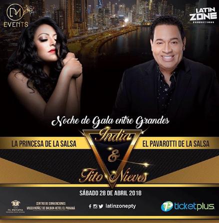 Photo of La India y Tito Nieves En Panamá
