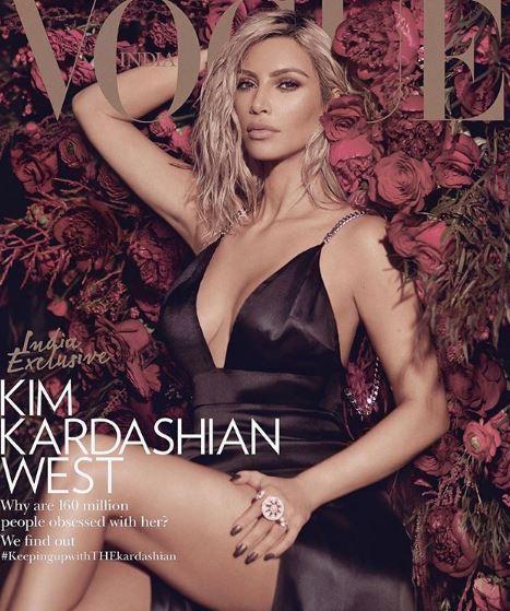 Photo of Kim Kardashian  portada de la revista Vogue India