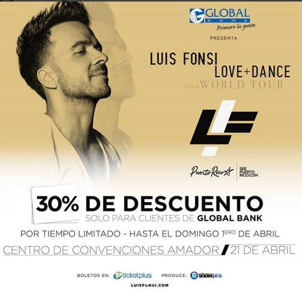 Photo of Oferta especial deSemana Santa para boletos de Luis Fonsi en Panamá