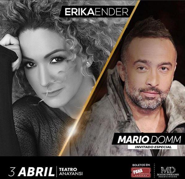 Photo of Mario Domm invitado especial en el concierto de Erika Ender