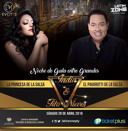 Photo of La India y Tito Nieves En Panamá