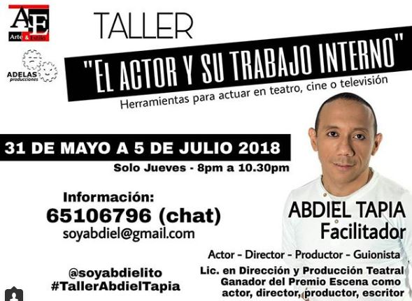 Photo of Taller de actuación con Abdiel Tapia