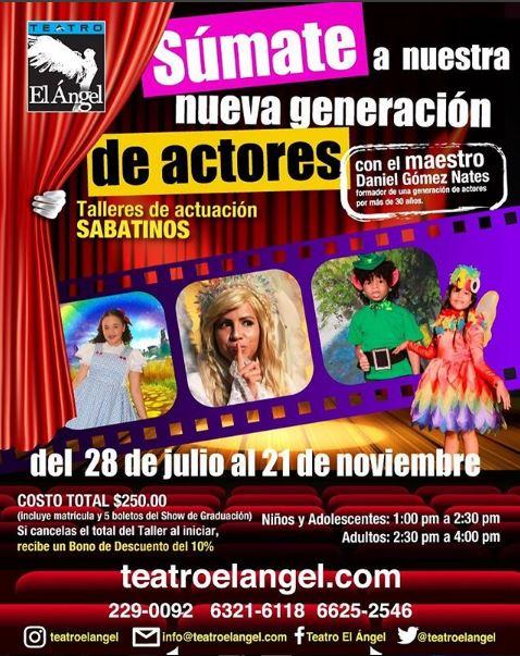 Photo of Talleres de actuación sabatinos en Teatro el Ángel