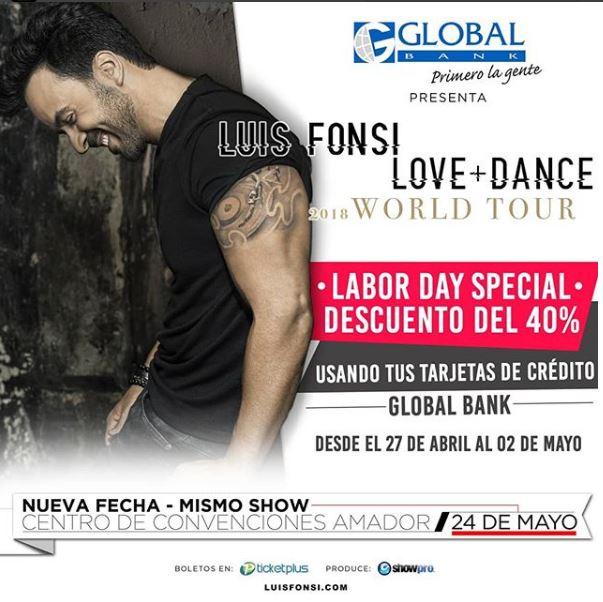 Photo of Nueva fecha y mismo show de Luis Fonsi en Panamá