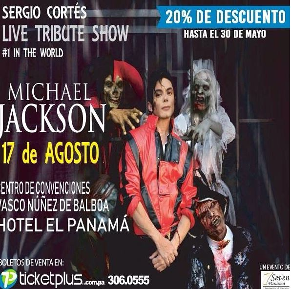 Photo of Sergio Cortés con su tributo a Michael Jackson en Panamá