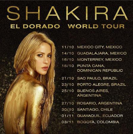 Photo of Shakira anuncia concierto de latinoamérica