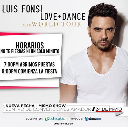 Photo of A solo 1 día para el concierto de Luis Fonsi en Panamá