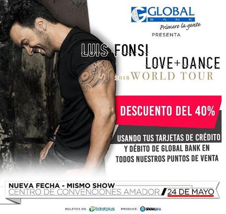 Photo of Descuentos en boletos para concierto de Luis Fonsi