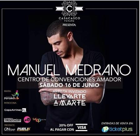 Photo of En concierto Manuel Medrano en Panamá