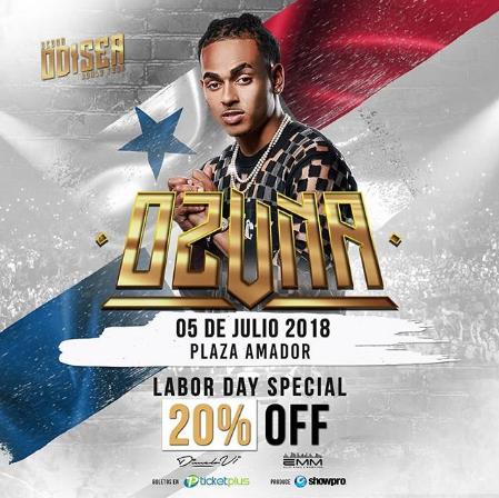 Photo of 20% de descuento para concierto de Ozuna
