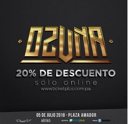 Photo of Descuento al 20% para el concierto de Ozuna en Panamá