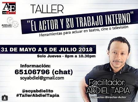 Photo of Inscribase para el taller de actuación con Abdiel Tapia