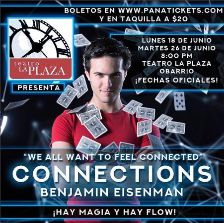 Photo of Benjamin Eisenman nos brindara su show «Connections»