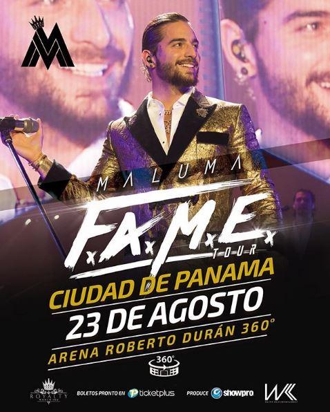 Photo of Maluma presentara en Panamá su tour F.A.M.E.
