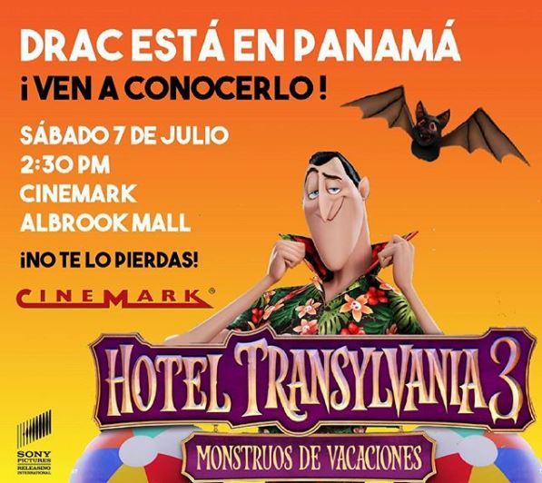 Photo of Drac estará de visita en Cinemark Albrook Mall