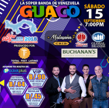 Photo of Guaco en concierto en Panamá