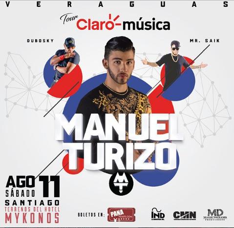 Photo of En agosto Manuel Turizo en concierto en Veraguas