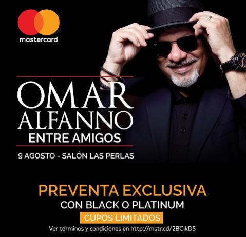 Photo of Pre Venta Exclusiva para el concierto Omar Alfanno