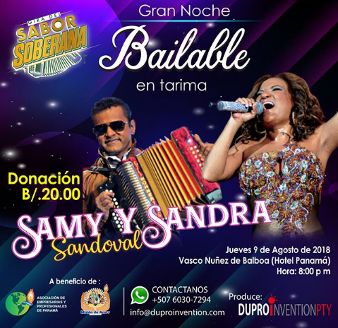 Photo of Gran Noche Bailable en Tarima con Samy Y Sandra Sandoval