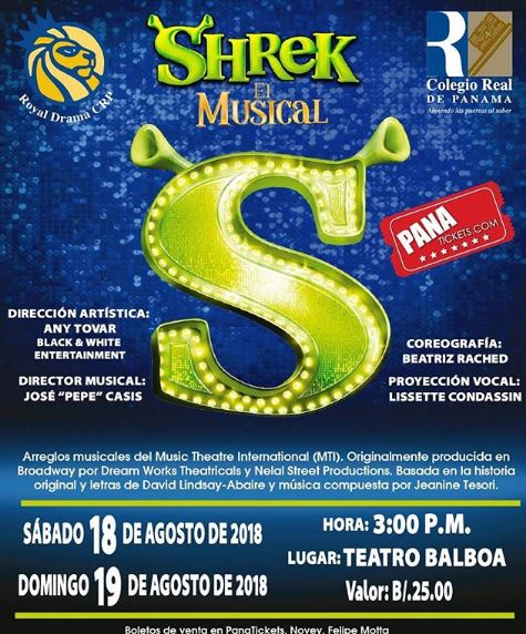 Photo of Estreno de Shrek el Musical 2018 en Panamá