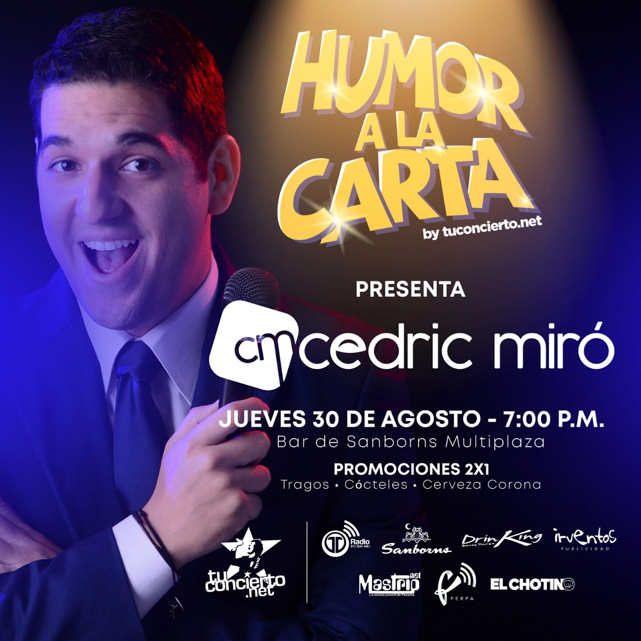 Photo of Humor a la Carta by @tuconcierto presenta a 'Cedric Miró'